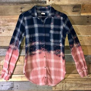Adult size dip dyed flannel